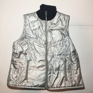 Ralph Lauren Reversible Silver Puffer Vest